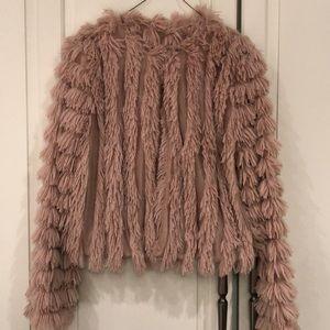 Blush fluffy jacket
